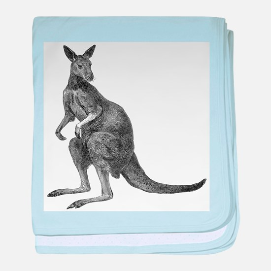 Kangaroo baby blanket