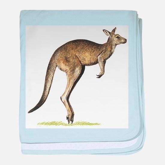 Gray Kangaroo baby blanket