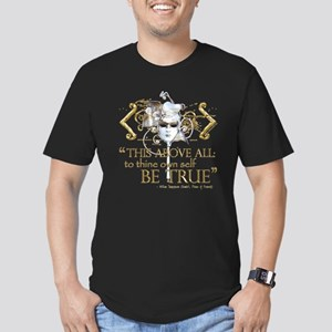 "Hamlet ""Be True"" Quote Men's Fitted T-Shirt (dark)"