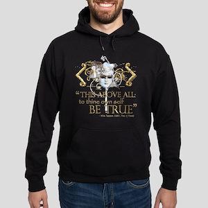 "Hamlet ""Be True"" Quote Hoodie (dark)"