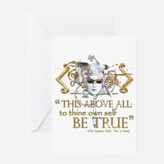"""Hamlet """"Be True"""" Quote Greeting Card"""