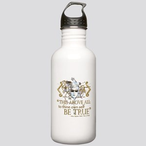 "Hamlet ""Be True"" Quote Stainless Water Bottle 1.0L"