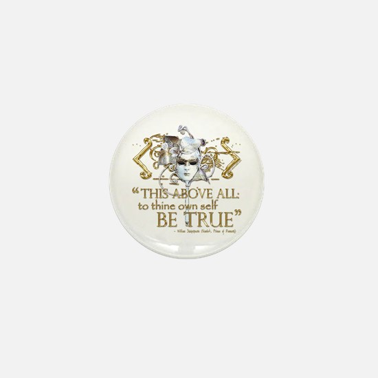 """Hamlet """"Be True"""" Quote Mini Button (10 pack)"""
