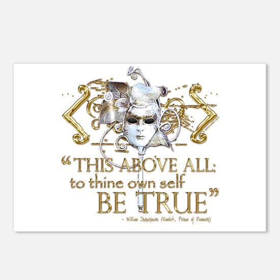 "Hamlet ""Be True"" Quote Postcards (Package of 8)"