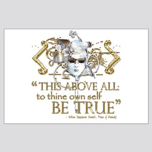 "Hamlet ""Be True"" Quote Large Poster"