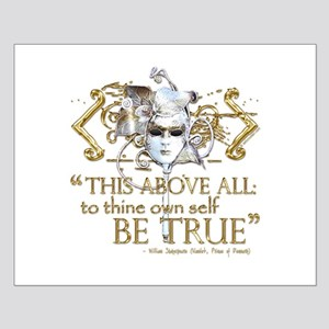 "Hamlet ""Be True"" Quote Small Poster"