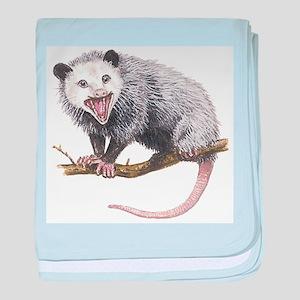 Opossum baby blanket