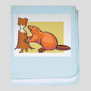 Beaver baby blanket