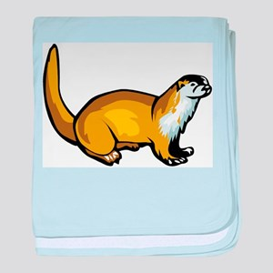 otter drawing baby blanket