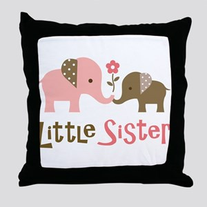 Little Sister - Mod Elephant Throw Pillow