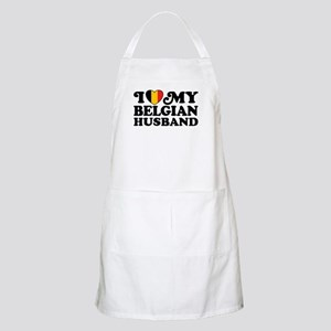 I Love My Belgian Husband Apron