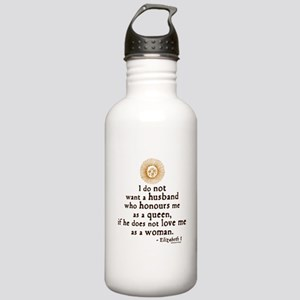 Elizabeth Marriage Quote Stainless Water Bottle 1.