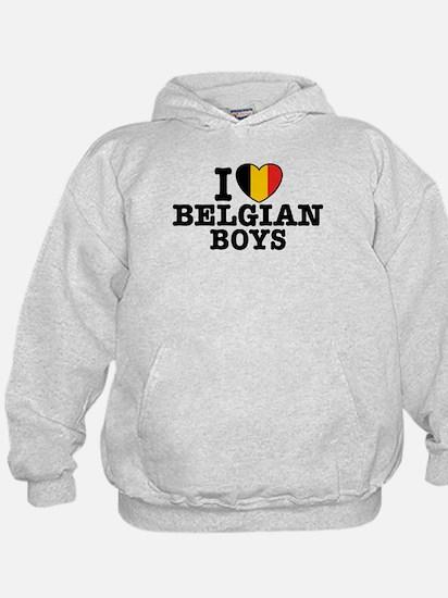 I Love Belgian Boys Hoodie