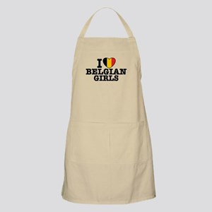I Love Belgian Girls Apron