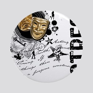Actress Alchemy Collage Ornament (Round)