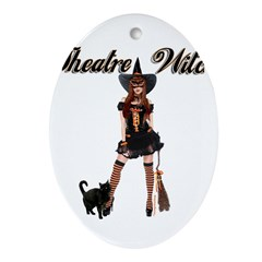 Theatre Witch Ornament (Oval)