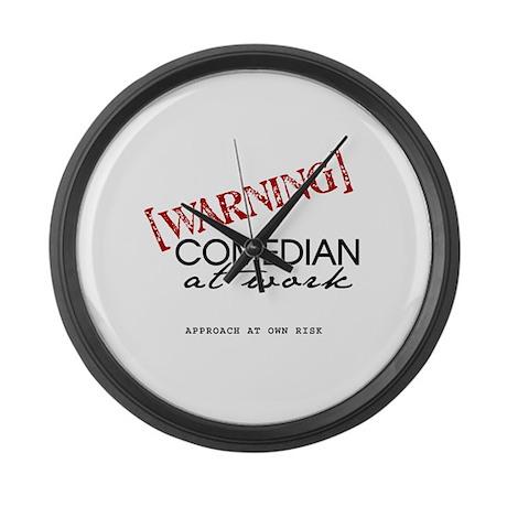 Warning: Comedian Large Wall Clock