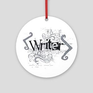 Grunge Writer Ornament (Round)