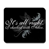 Alice cullen Mouse Pads