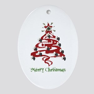 Actors' Christmas Tree Ornament (Oval)