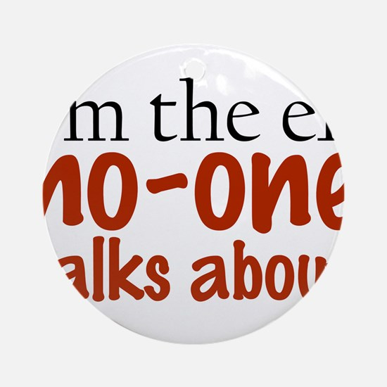 No Talk Elf Ornament (Round)