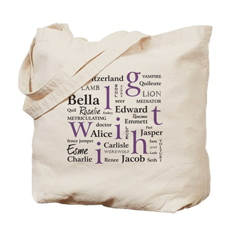 Twilight Tag Cloud Tote Bag