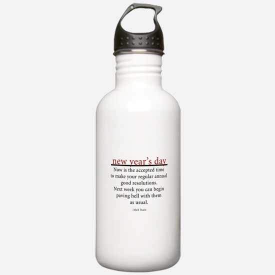 New Year's Day Water Bottle