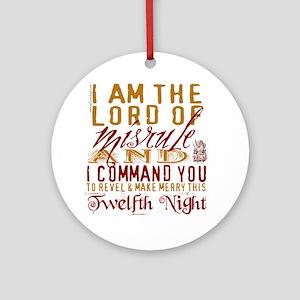 Lord of Misrule/Twelfth Night Ornament (Round)