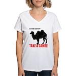 No Flying Carpet? Women's V-Neck T-Shirt