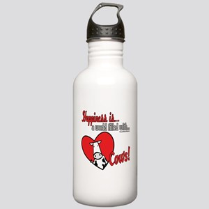Happiness is Cows Stainless Water Bottle 1.0L