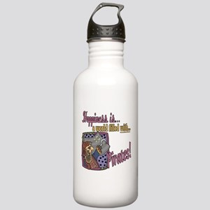 Happiness is pirates Stainless Water Bottle 1.0L