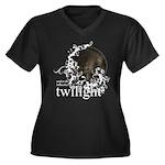 Twilight Influence Women's Plus Size V-Neck Dark T