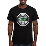 Green Luck Dharma Men's Fitted T-Shirt (dark)