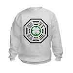 Green Luck Dharma Kids Sweatshirt