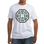 Green Luck Dharma Fitted T-Shirt