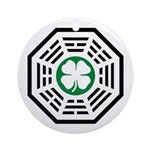 Green Luck Dharma Ornament (Round)