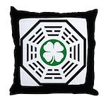 Green Luck Dharma Throw Pillow