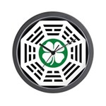 Green Luck Dharma Wall Clock