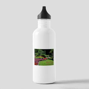 Flowers 2 BG, VI Stainless Water Bottle 1.0L