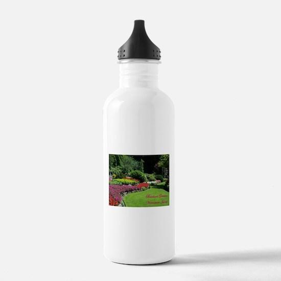 Flowers 2 BG, VI Water Bottle