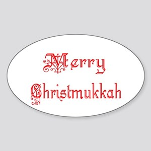 Merry Christmukkah Sticker (Oval)