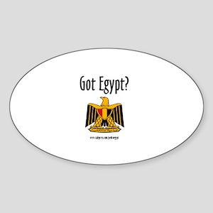 Pedro Egypt Oval Sticker