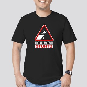 I Do All My Own Stunts - Men's Fitted T-Shirt (dar
