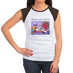 Rabbit Christmas Wish Women's Cap Sleeve T-Shirt