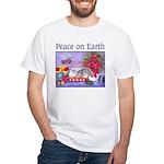Rabbit Christmas Wish White T-Shirt