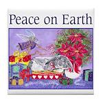 Rabbit Christmas Wish Tile Coaster
