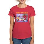 Rabbit Christmas Wish Women's Dark T-Shirt