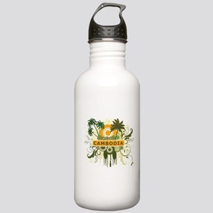 Palm Tree Cambodia Stainless Water Bottle 1.0L