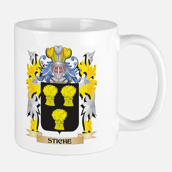 Stiche Family Crest - Coat of Arms Mugs