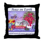 Rabbit Christmas Wish Throw Pillow